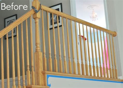 Restaining Banister Rail by Staircase Railing Paint Staircase Gallery