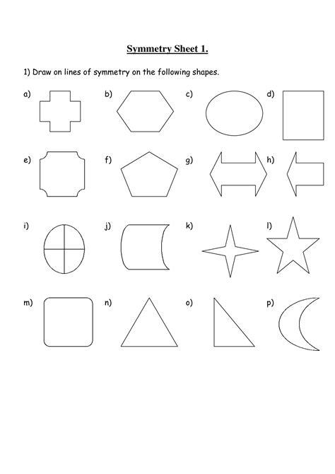 printable shapes for rotational symmetry 12 best images of symmetrical shapes worksheets line