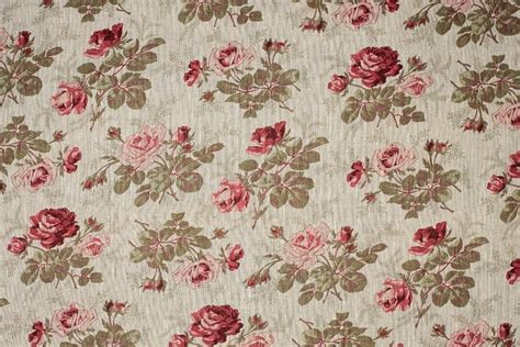 french drapery fabric french floral linen old rose curtain craft fabric ebay