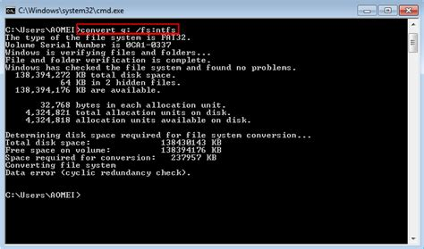 format fat32 command line windows 7 three ways to convert fat32 to ntfs in windows 7