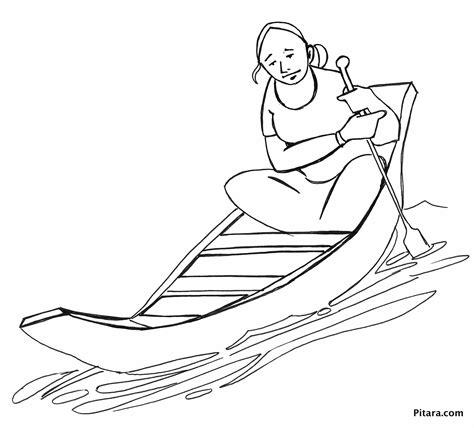 vinta boat drawing indian village people coloring pages pitara kids network