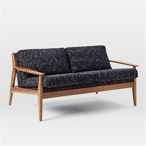 loveseat wood frame mathias mid century wood frame loveseat west elm