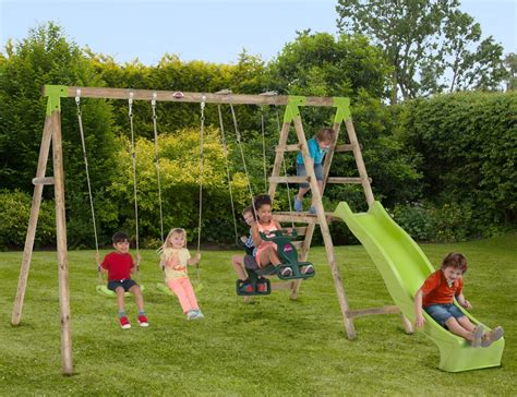 wooden swing set with slide silverback wooden swing set with slide