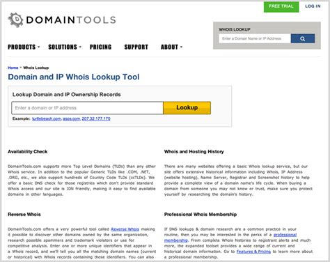 Url To Ip Address Lookup How To Use The Whois Lookup Tool Help Center