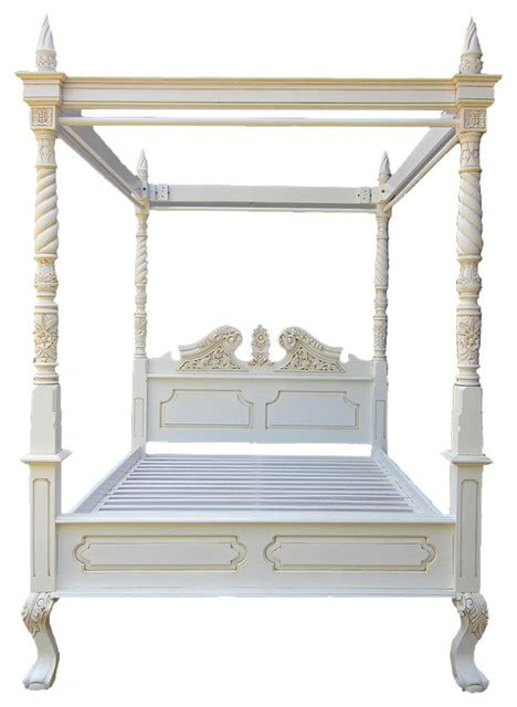 queen anne four poster bed akd furniture queen anne carved mahogany 4 poster bed traditional