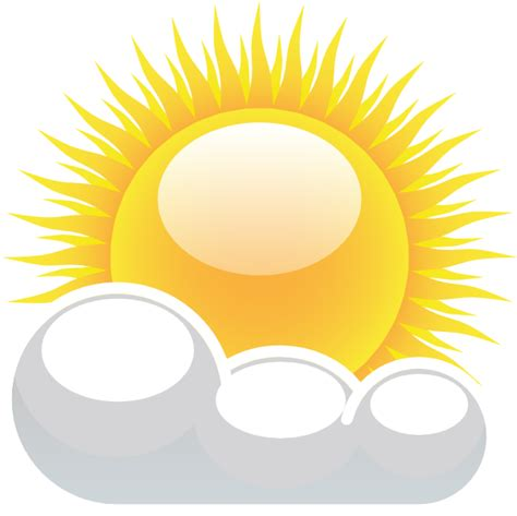 what is a sun l partly cloudy with sunshine clip art at clker com vector