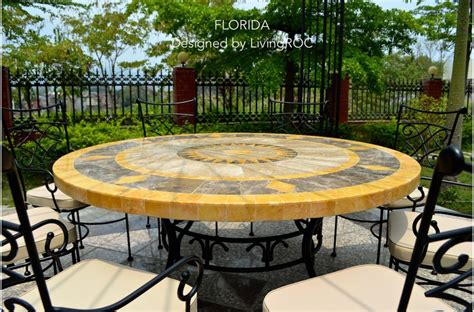 Mosaic Top Patio Table 49 Quot Outdoor Patio Garden Table Mosaic Marble Florida