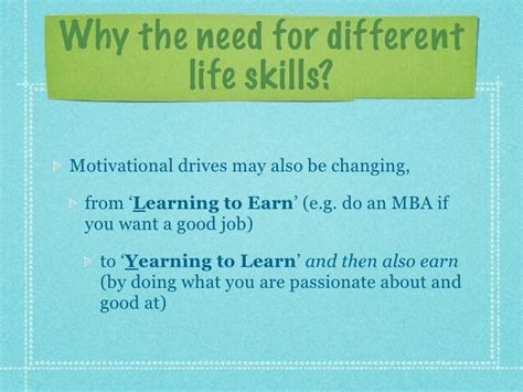 Earn Mba Definition by Lifeskills For The 21st Century