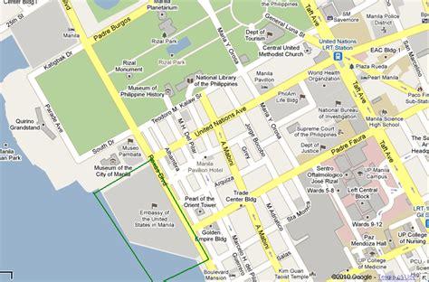 map us embassy manila map of manila manila maps mapsof net