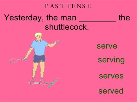 swing verb tenses sporting past present future tense verbs