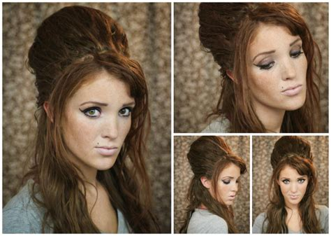 backcombed hairstyles halloween the freckled fox hair tutorial amy winehouse beehive