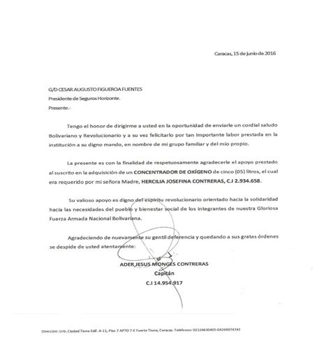 carta de funeraria carta de agradecimiento seguros horizonte s a