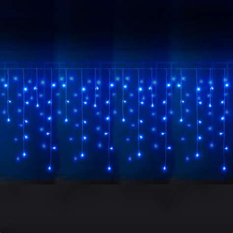 icicle lights outdoor 100 led blue white icicle lights