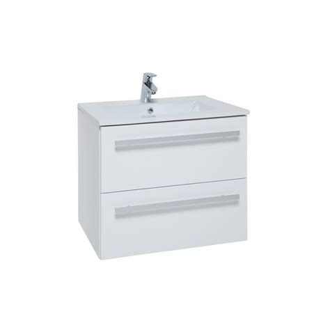 Wall Mounted Drawer Unit by Kartell Purity 600mm White Wall Mounted Drawer Unit Basin
