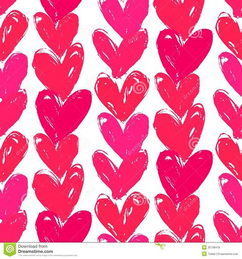 free printable wrapping paper patterns velentine s day pattern with hand painted hearts stock