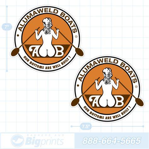 alumaweld boat graphics alumaweld boat decals orange retro sticker package