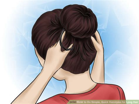 easy hairstyles for hair wikihow 4 ways to do simple hairstyles for hair wikihow