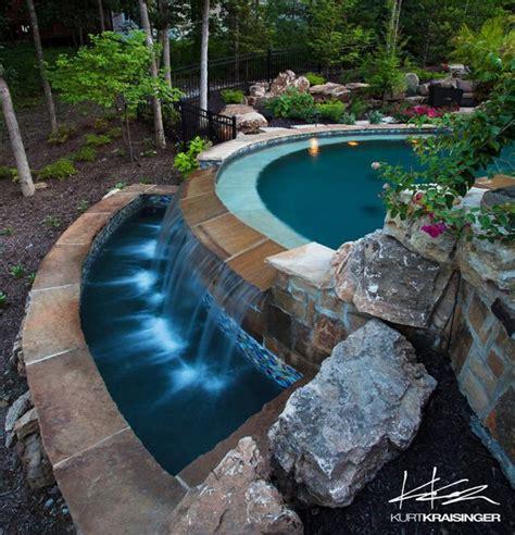 negative edge pool designs  spillover waterfalls