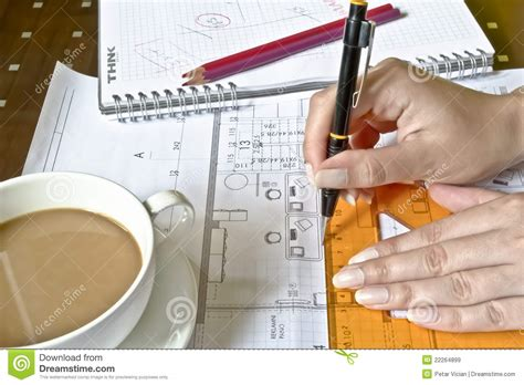 Architect Work Architect At Work Royalty Free Stock Images Image