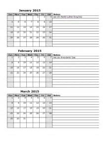 2015 Printable Calendar Template by 2015 Monthly Calendar Template 12 Free Printable Templates