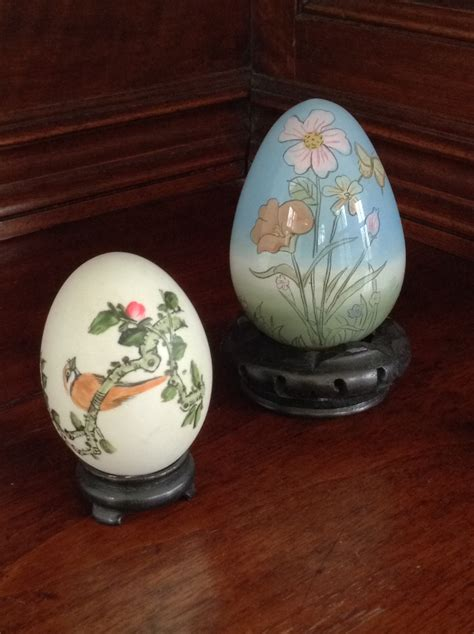 Decorative Eggs by Decorative Eggs With Stands Set Of 2