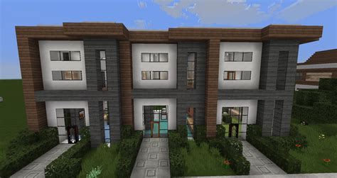 minecraft house modern designs minecraft modern house designs 6 modern house row youtube