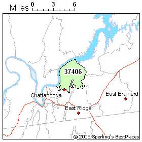 Chattanooga Zip Code Map by Best Place To Live In Chattanooga Zip 37406 Tennessee