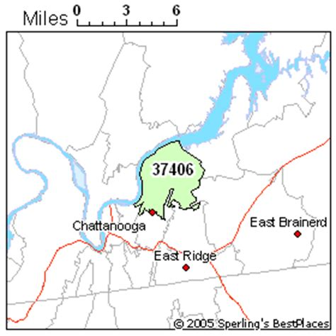 zip code map chattanooga tn best place to live in chattanooga zip 37406 tennessee