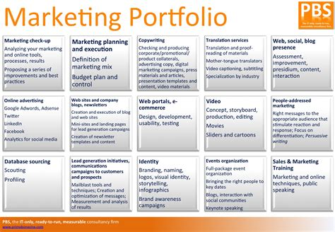 for marketing services template marketing portfolio pbs primo bonacina services