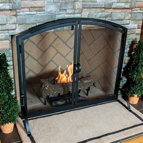Fireplace Screen Single Panel by Vintage Fireplace Screens With Doors For Family Room