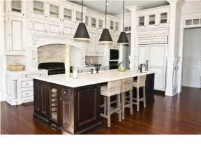 Kitchens With Different Colored Islands Dark Island And White Kitchen Cabinets Dream Kitchen