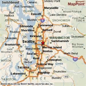 Bellevue Washington Map by Bellevue Washington