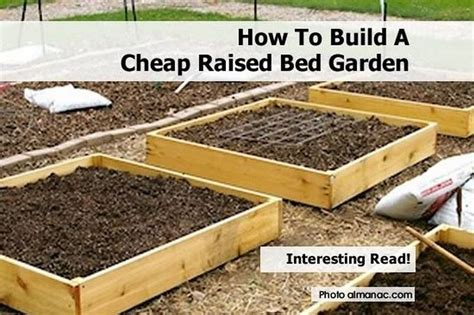 How To Build A Cheap Raised Bed Garden How To Make A Raised Garden Bed For Vegetables