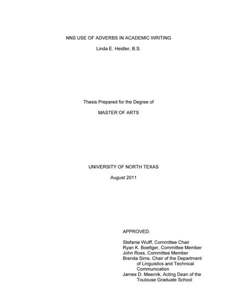 College Research Paper Title Page by Research Paper Title Page