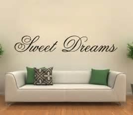 Modern wall sticker sweet dreams vinyl art mural wall quote saying