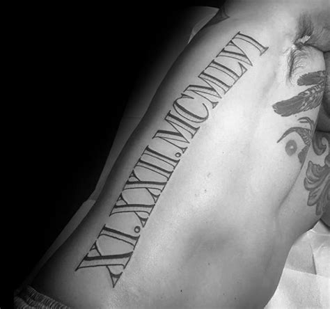 roman letter tattoo designs 100 numeral tattoos for manly numerical ink ideas