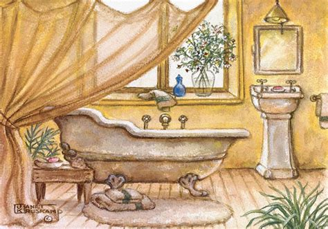 vintage bathtub iv one of janet krusk s original oil