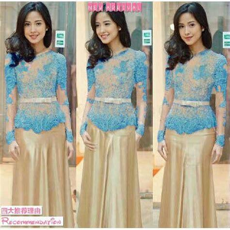 long hairstyle kebaya modern baju kebaya modern quot vera biru quot model terbaru murah