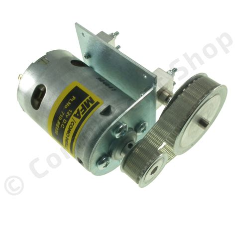12 v motor 850 12v dc motor with 2 1 1 belt reduction drive mfa