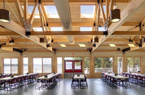 dining hall harold and bibby alfond dining hall aia maine
