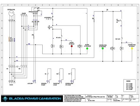 three phase automatic transfer switch wiring diagram