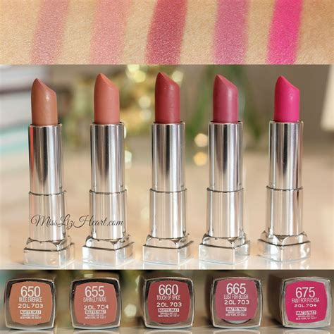 maybelline lipstick colors miss liz new maybelline color sensational