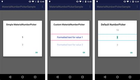 android number picker materialnumberpicker by kasualbusiness