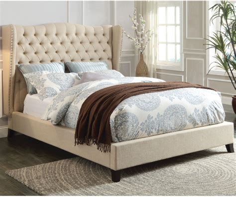 beige tufted bed faye beige linen tufted upholstery bed
