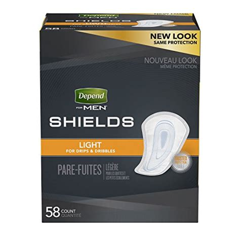 depend shields for men light absorbency 58 count depend shields for men light absorbency incontinence