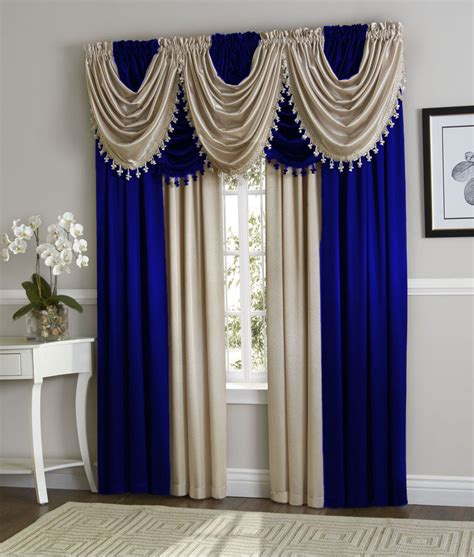 1 panel royal blue faux silk rod pocket window curtain drape treatment h1 ebay