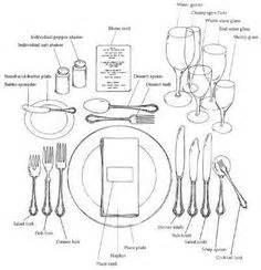 formal place setting diagram tafeldek idees on table settings place