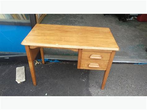 small solid wood desk with drawers small vintage solid wood 2 drawer desk central nanaimo