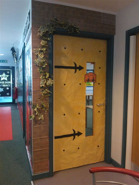 door entrance to classroom school rocks