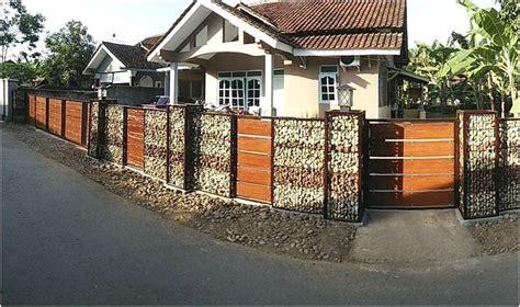 model desain pagar rumah minimalis batu alam terbaru terbaik pagar rumah minimalis pinterest